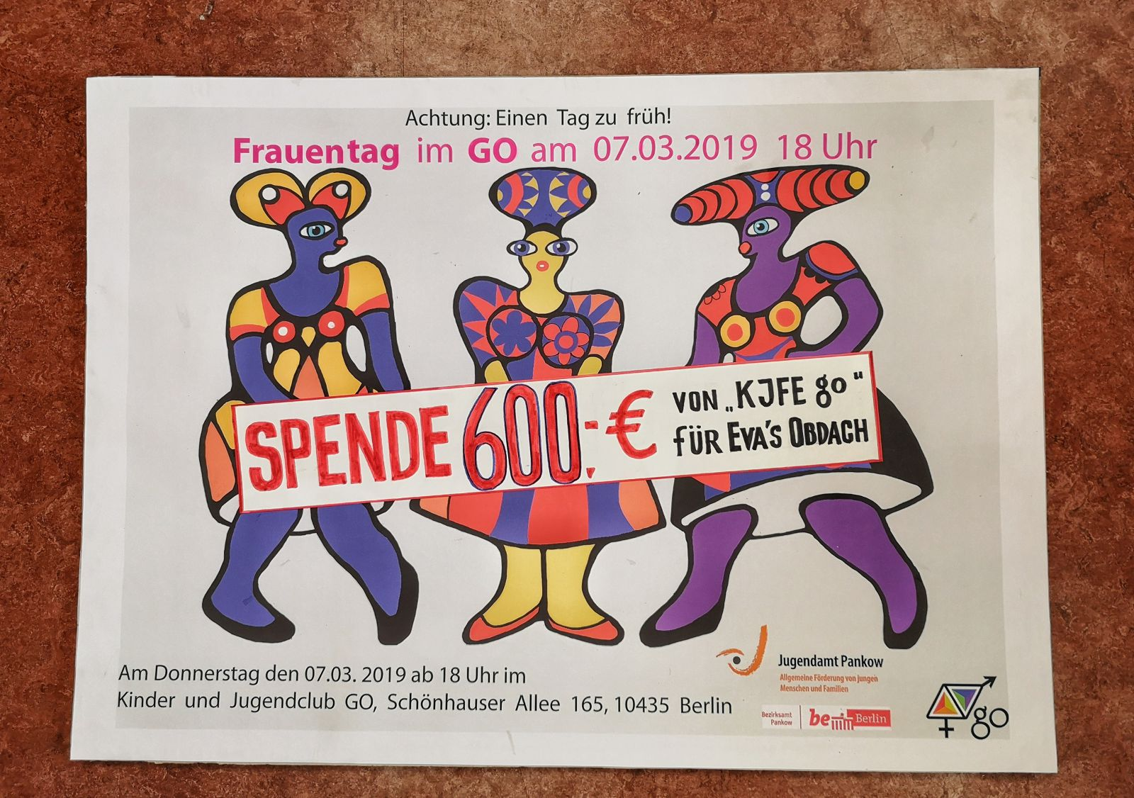 Frauentag - Spende 600 €