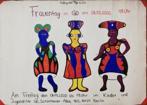 Plakat - Drei schöne Frauen zum Frauentag